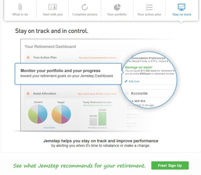 Personalized Advice Website 1 Stay On Track