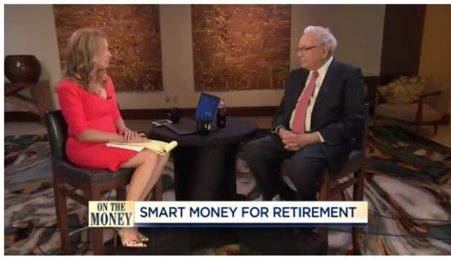 Warren Buffet emphasizing importance of index funds