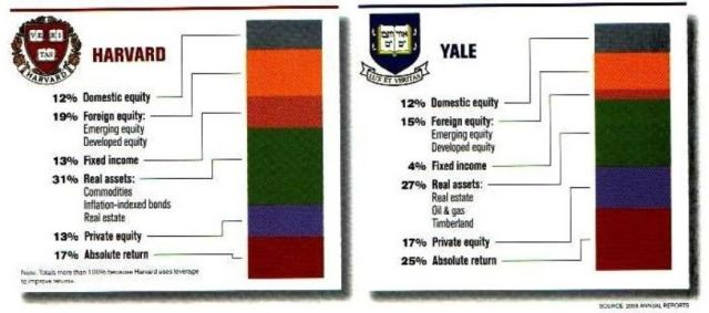 Harvard,Yale Portfolio Composition